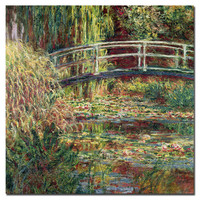 "Trademark Art ""Waterlily Pond Pink Harmony, 1900"" by Claude Monet Prints of Paintings on Canvas"