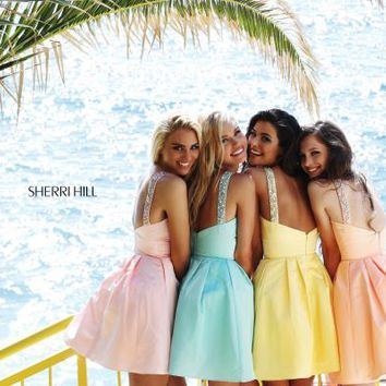 Sherri Hill Short Dress 21245 at Prom Dress Shop
