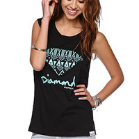Diamond Supply Co Jungle Muscle T-Shirt - Womens Tee - Black - Large