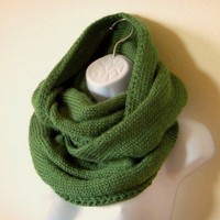 Sage Green Infinity Circle Scarf | HighDesertKnits - Accessories on ArtFire