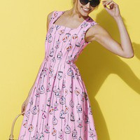 South Petite Conversational Gas Pumps Print Soft Dress - very.com