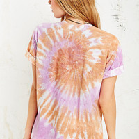 Vintage Renewal Tie-Dye Tee in Orange - Urban Outfitters