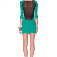 What a Mesh Dress in Green :: tobi