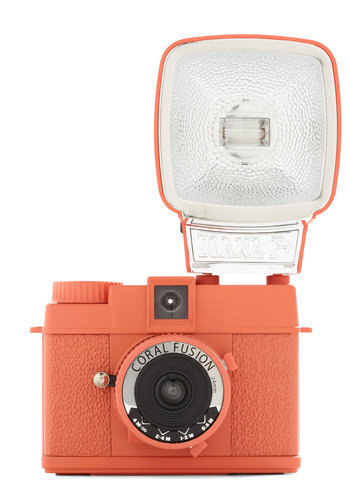 Special Edition Diana Mini Camera in Coral Fusion | Mod Retro Vintage Electronics | ModCloth.com