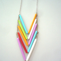 Chevron necklace in many colours by stavroula on Etsy