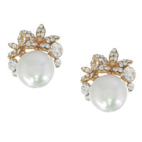 Perfect Wedding Pearl Clusters Earrings