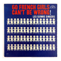 """Zaro Calabrese record album design, 1960. Les Djinns Singers """"60 French Girls Can't Be Wrong!"""" LP"""