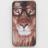 Hipster Lion Iphone 4/4S Case Brown One Size For Women 22708040001