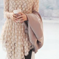 Beige full dot dress | IloveUloveI | ASOS Marketplace