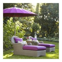 Summerlin Chaise Lounge with Sunbrella- Stone Cushion