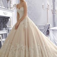 Mori Lee 2674 Lace Ball Gown Wedding Dress