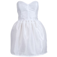 White Mini Bell Shape Party Prom Dress | Style Icon`s Closet