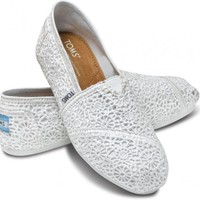 New Styles - White Crochet Women&#x27;s Classics | TOMS.com