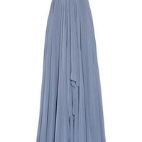 Marchesa|Embellished silk-chiffon strapless gown|NET-A-PORTER.COM