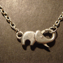 Antique Silver Elephant Clasp Necklace by CreepyCreationz on Etsy