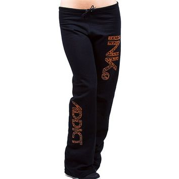Women's INK Sweatpants by InkAddict (Black/Leopard)