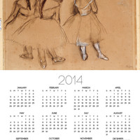 Three Dancers Poster Calendar by Edgar Degas at Art.com