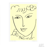 La Pompadour, c.1951 Art Print by Henri Matisse at Art.com