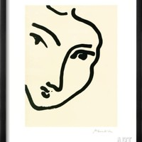 Femme II (Nadia au menton) Framed Art Print by Henri Matisse at Art.com