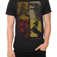 Game Of Thrones Four Houses Slim-Fit T-Shirt