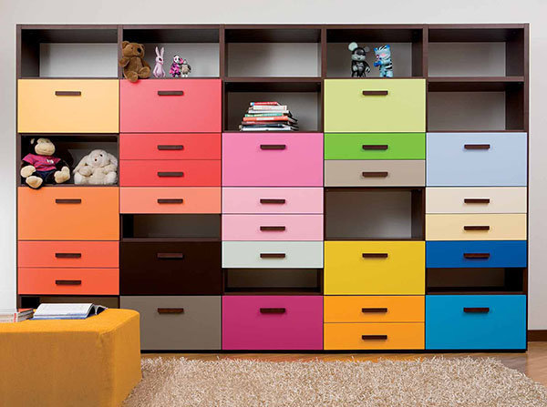 design of storage cabinets to store toys or children?s books so the room look neat - design ideas and pictures on Interior Design and Decoration Ideas