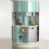 Circled Kitchen functional and stylish manner - design ideas and pictures on Interior Design and Decoration Ideas