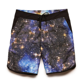 Galaxy Print Swim Trunks