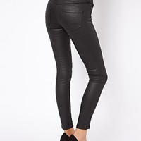 Mango Coated Skinny Jean - black