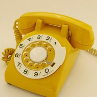 Mustard Yellow RotaryTelephone