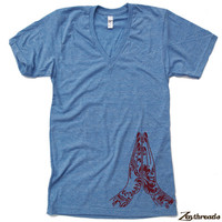 Unisex NAMASTE Tri Blend V Neck T Shirt american apparel XS  S  M  L XL (3 Color Options)