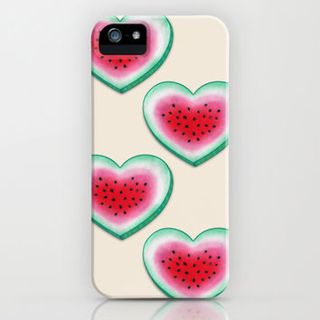 Summer Love - Watermelon Heart iPhone & iPod Case by Perrin Le Feuvre