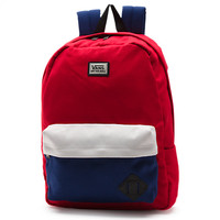 Vans Old Skool II Backpack (Reinvent Red Colorblock)