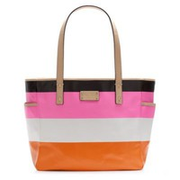 kate spade | cabana stripe small coal baby bag