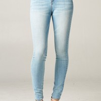 Light Wash High Waist Skinny Jeans