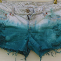 AMERICAN EAGLE Distressed Tie Dye Denim Short by MadMixFashion