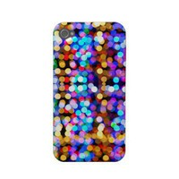 Funky Rainbow Glitter Sparkle iPhone 4/4S case Iphone 4 Case from Zazzle.com