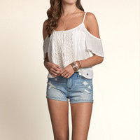 Broad Beach Cold Shoulder Top