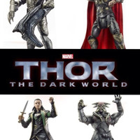 Thor The Dark World Action Figures Loki Dark Elf Kurse Thor lot Mint Lot of 5