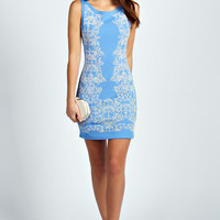 Mia Caviar Bead Detail Bodycon Dress