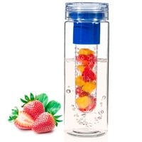 Basily 28oz Infuser Water Bottle - Eco Friendly - Create Your Own Beverage (Blue)