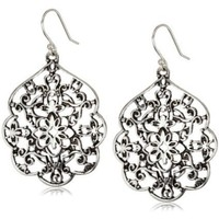 "Lucky Brand ""Expedition Ears"" Silver-Tone Thai Butterfly Earrings"