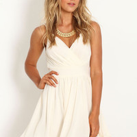 WRAP CHIFFON FLARE DRESS