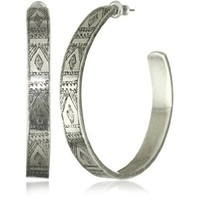 Low Luv by Erin Wasson Afghani Engraved Hoop Earrings