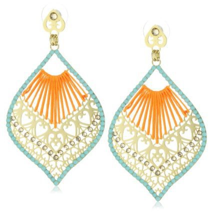 LK Designs Drop Shaped Cord Earrings 
