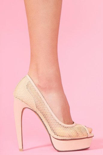 Gemma Platform Pump - Nude in  What's New at Nasty Gal