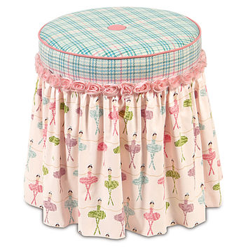 Belmont Home Decor Luxury Bedding - BRAVO PIXIE VANITY STOOL