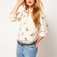 $60.88 ASOS | ASOS Shirt With Owl Print at ASOS