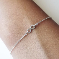 $25.00 Hammered Sterling Infinity Bracelet  Infinity by BellatrinaJewelry