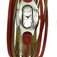 Two Tone Angel Watch in red by Tokyo Bay - Pop! Gift Boutique