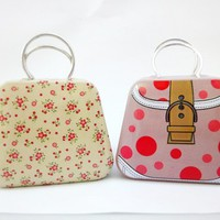 Super adorable handbag purse metal tin box gift wrap idea storage